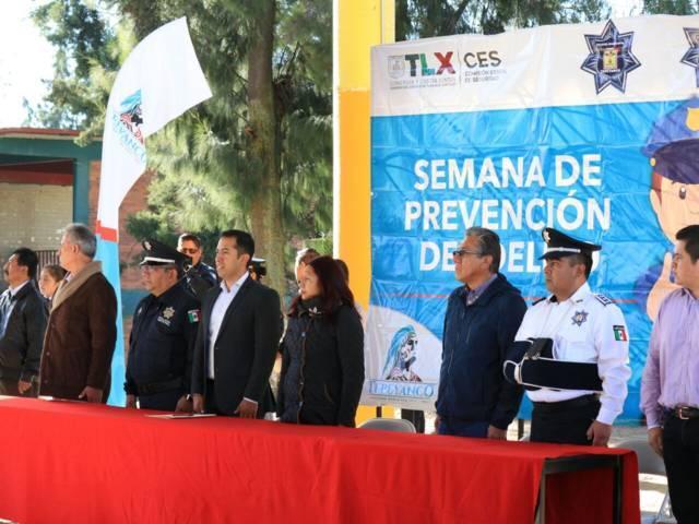 Inauguran en Tepeyanco la semana de prevención del delito