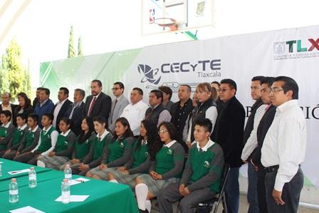 Santa Cruz Tlaxcala signó convenio de colaboración con Cecyte