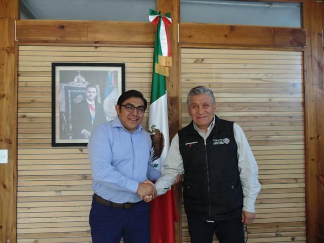 Sostuvo reunión de trabajo alcalde de Totolac y Delegado Federal de Sedatu
