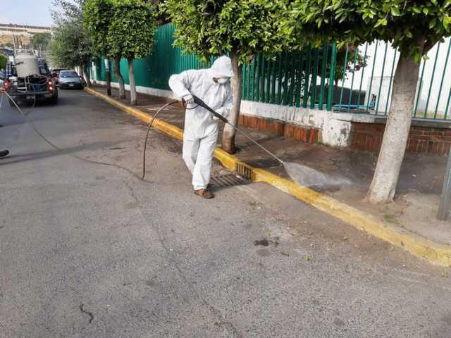 Realizan Jornada de Sanitización en DIF Municipal y hospital general