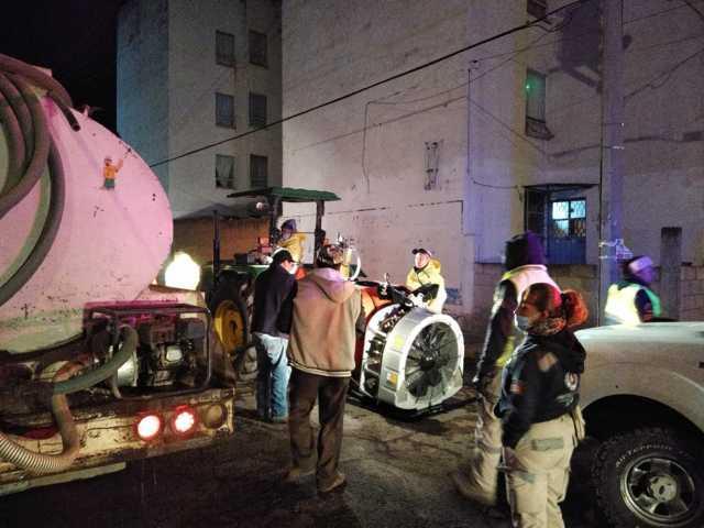Realizan jornada de sanitización contra coronavirus en Tetla
