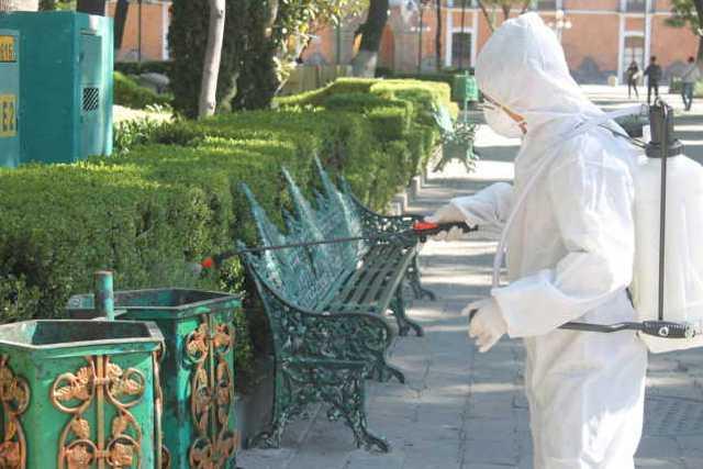 Implementan en la capital Jornadas de Sanitización en espacios públicos