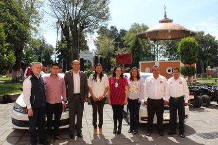 Opera servicio de transporte AME de Salud en Santa Cruz Tlaxcala