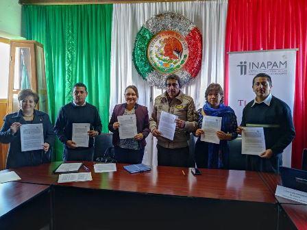 Firman convenio Inapam y el municipio de Sanctórum