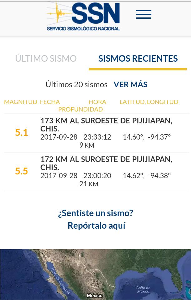 Dos sismos de mas de 5 grados Richter en Tlaxcala