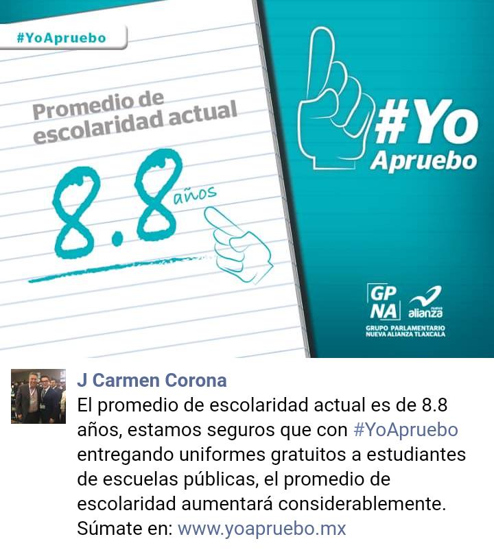 J. Carmen Corona se burla de estudiantes tlaxcaltecas