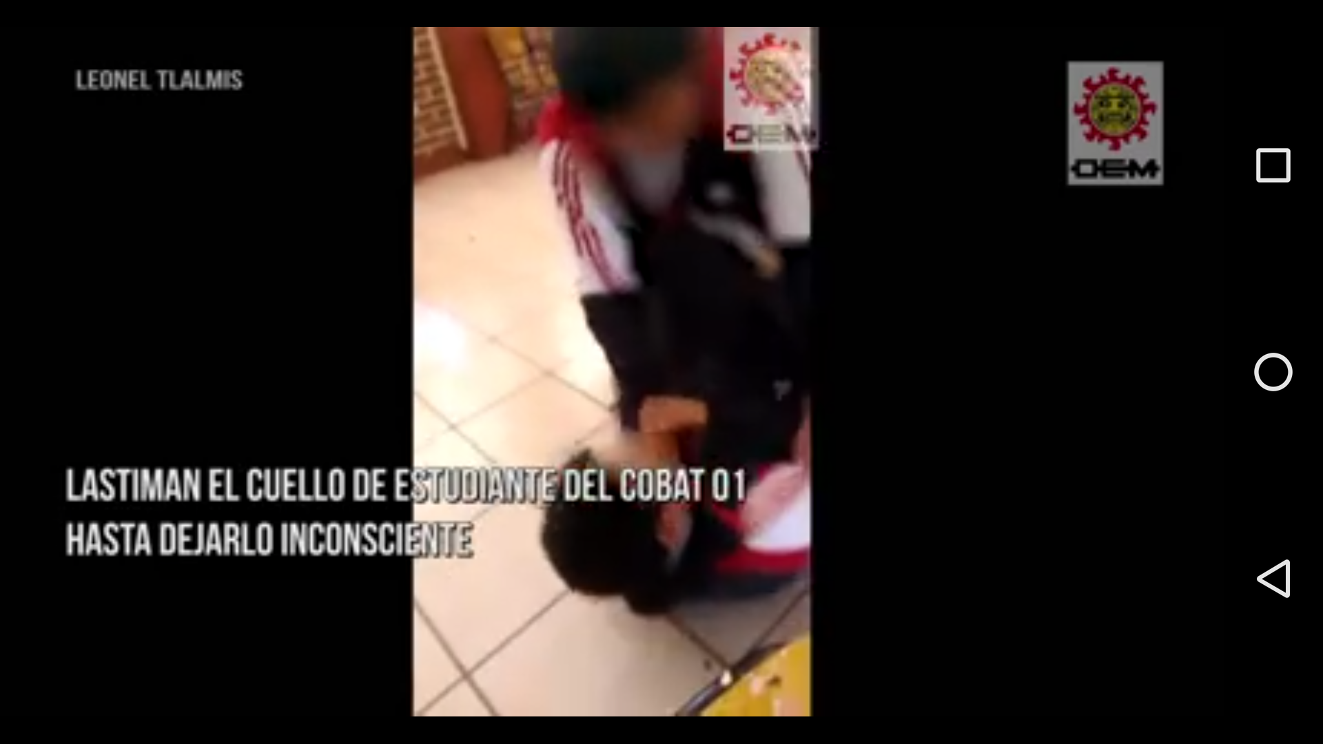 Video de violencia en el Cobat 01 desata críticas a la SEP- USET