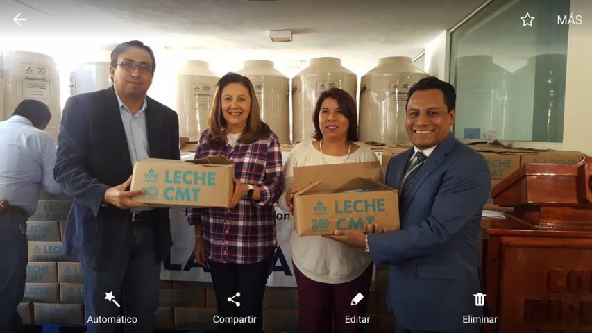 Entrega PAN más de 12 mil 700 litros de leche y cisternas para familias tlaxcaltecas