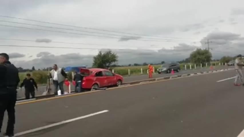 Accidente sobre la Tlaxcala- Texmelucan