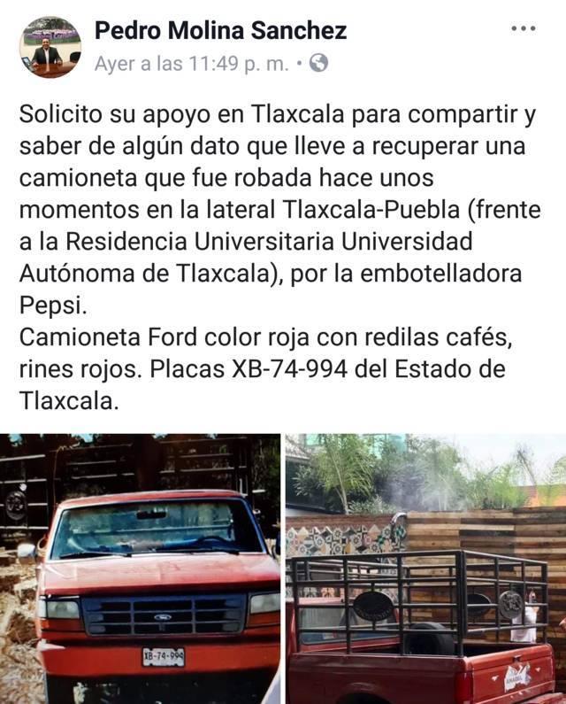 Se roban camioneta cerca de las instalaciones de la UAT