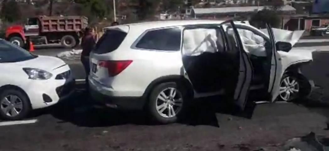 Carambola en Tizatlán deja cinco lesionados