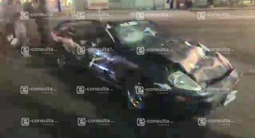 Exceso de velocidad provoca accidente en Totolac