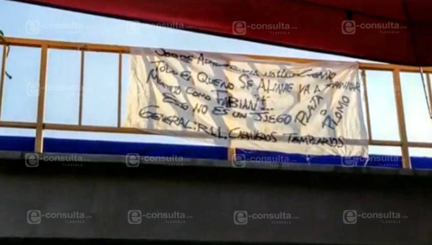 Presunta narcomanta en tianguis de la ciudad capital de Tlaxcala