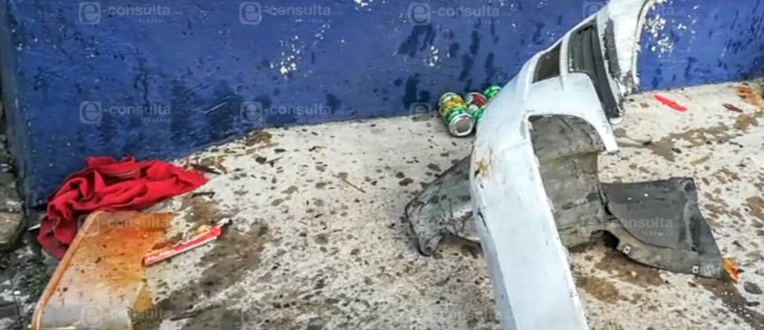 Borrachazo deja daños materiales en Loma Bonita
