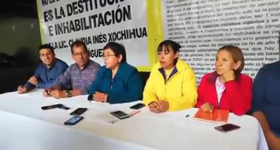 Trabajadores de la educación piden destitución de directora