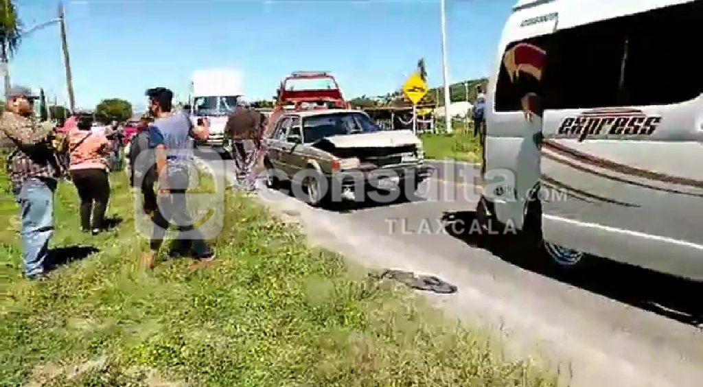 Ocho estudiantes lesionados deja choque en Panotla
