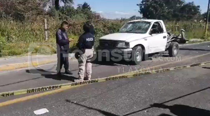 Le explota camioneta a Huicho Domínguez en Coaxomulco