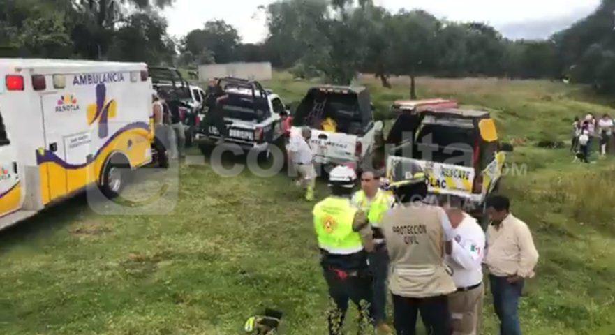 Mujer cae a barranca La Presa en Panotla