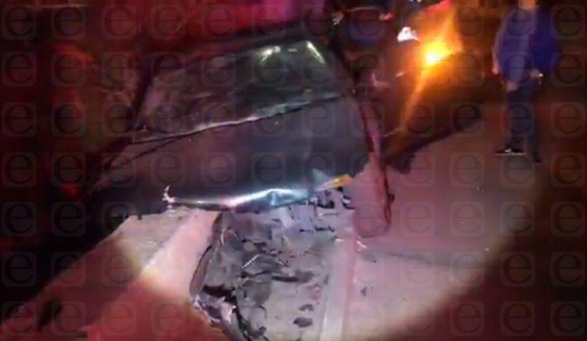 Salen disparados en aparatoso accidente en Xicohtzinco