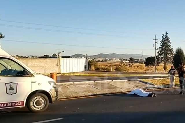 Muere motociclista sobre el libramiento de Apizaco