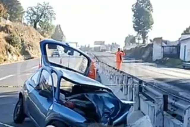Se impacta contra puente en Tizatlán