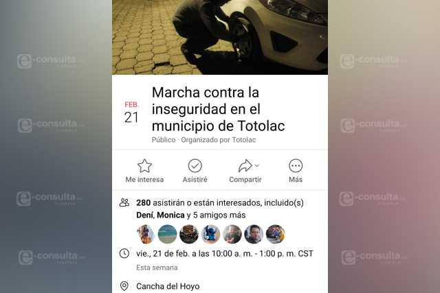 Ya no toleran a alcalde Ebriones y convocan a marcha en Totolac