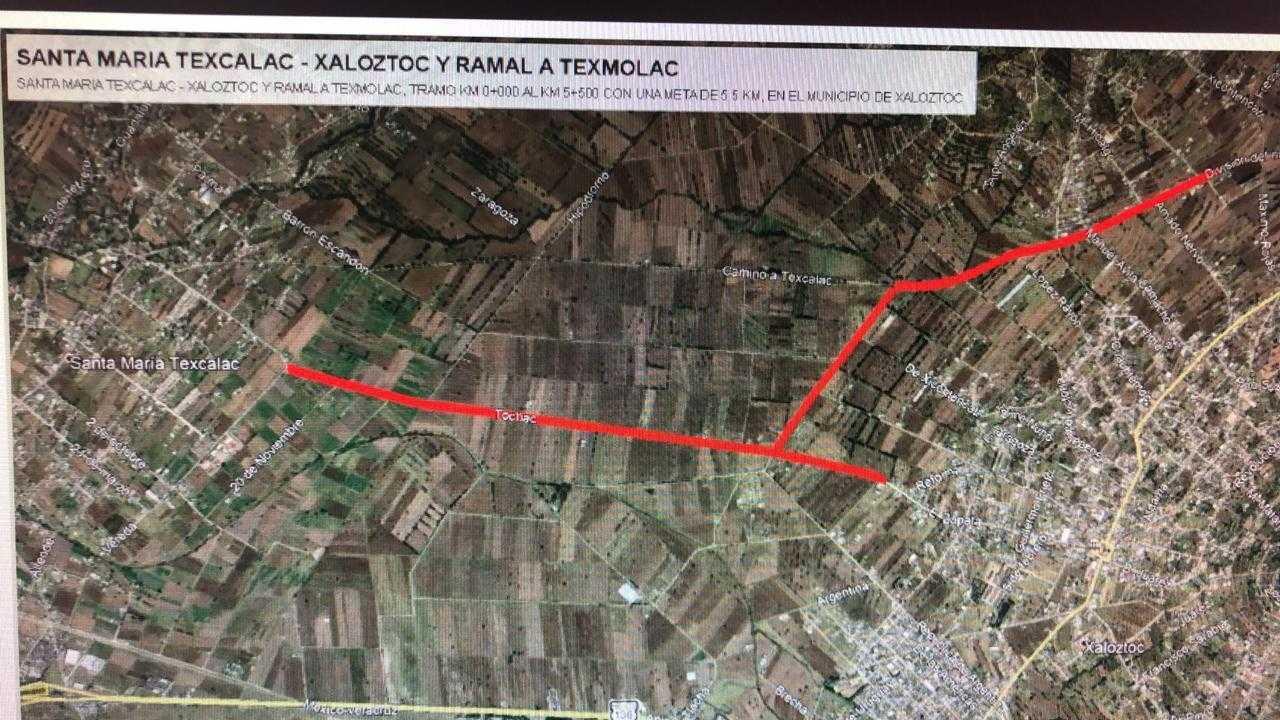 Gestiona Ricardo Morales Cruz pavimentación de caminos rurales en Apizaco