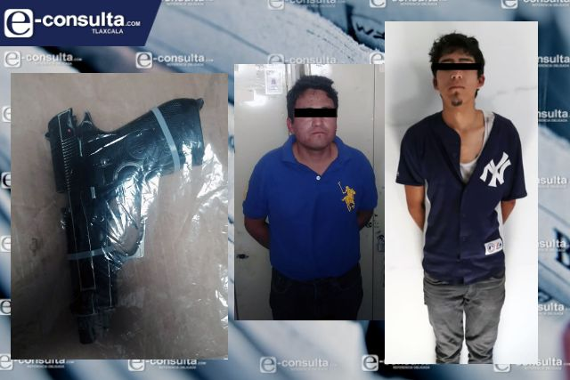 La SSC detiene a dos personas por el probable delito de robo en Tizatlán