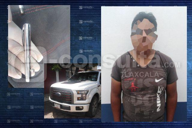 Grupo anti-asalto detiene en Apetatitlán a sujeto con arma de fuego