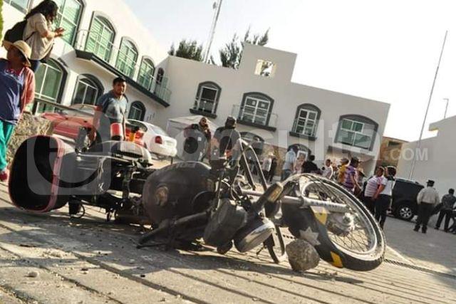 Roban biblioteca de Totolac en manos de manifestante