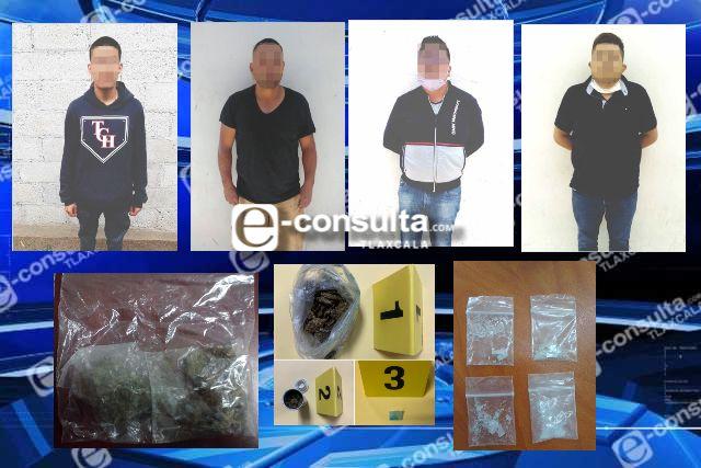 Aseguran en tres diferentes acciones a cuatro personas con posesión de narcóticos