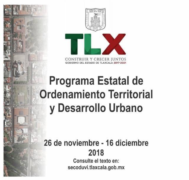 Conformará Secoduvi programa de ordenamiento territorial y desarrollo urbano