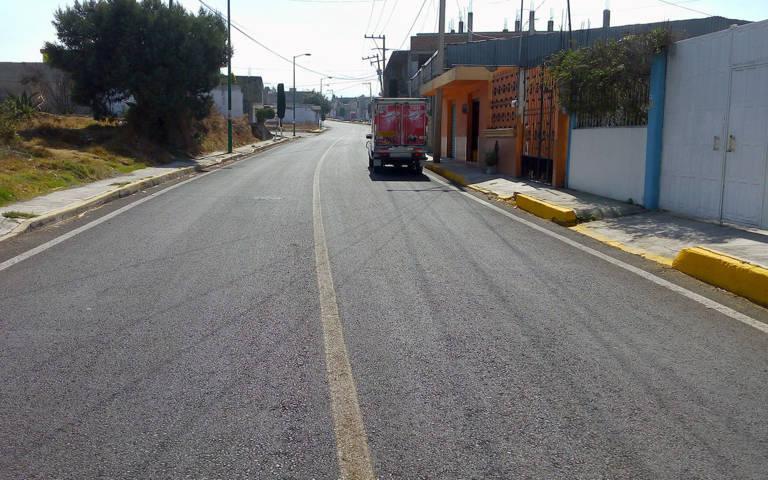 Concluye SECODUVI rehabilitación de calles en Tetlanohcan