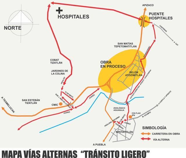 Anuncia Secoduvi rutas alternas por modernización de la Carretera Tlaxcala-Apizaco