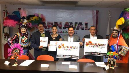 Presenta Secture Carnaval Tlaxcala 2018 en Hidalgo