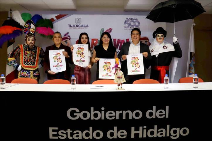 """Presentan en Hidalgo actividades del """"Carnaval 500 Años Tlaxcala 2019"""""""
