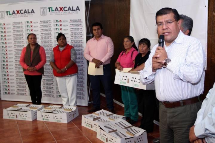 Beneficia Sefoa a 150 familias con paquetes de codorniz