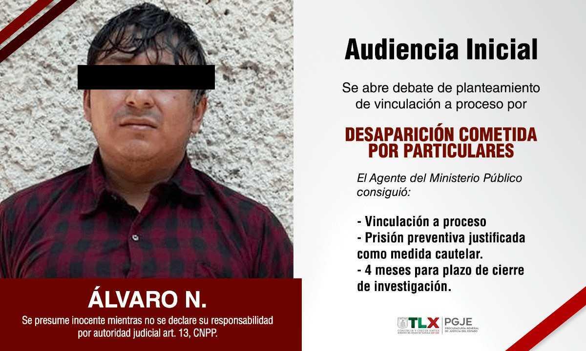 Procede vinculación a proceso contra imputado involucrado en desaparición de Daniela N: PGJE