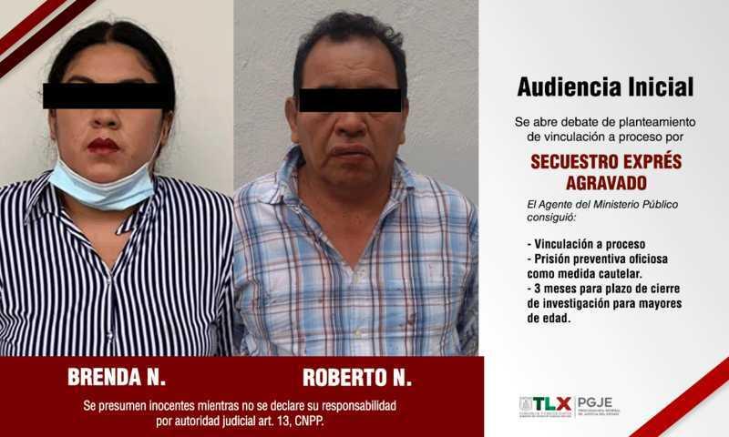 Obtiene PGJE vinculación a proceso contra pareja involucrada en secuestro exprés