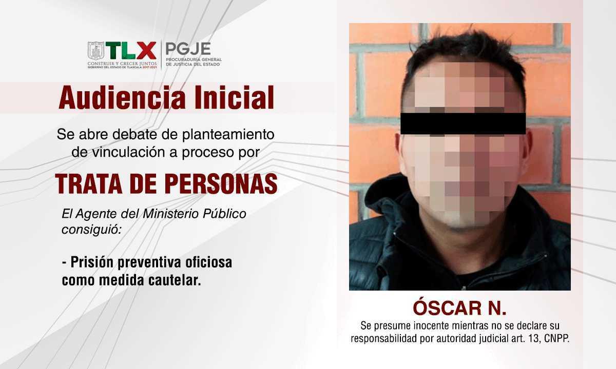 A prisión preventiva imputado por trata de personas: PGJE