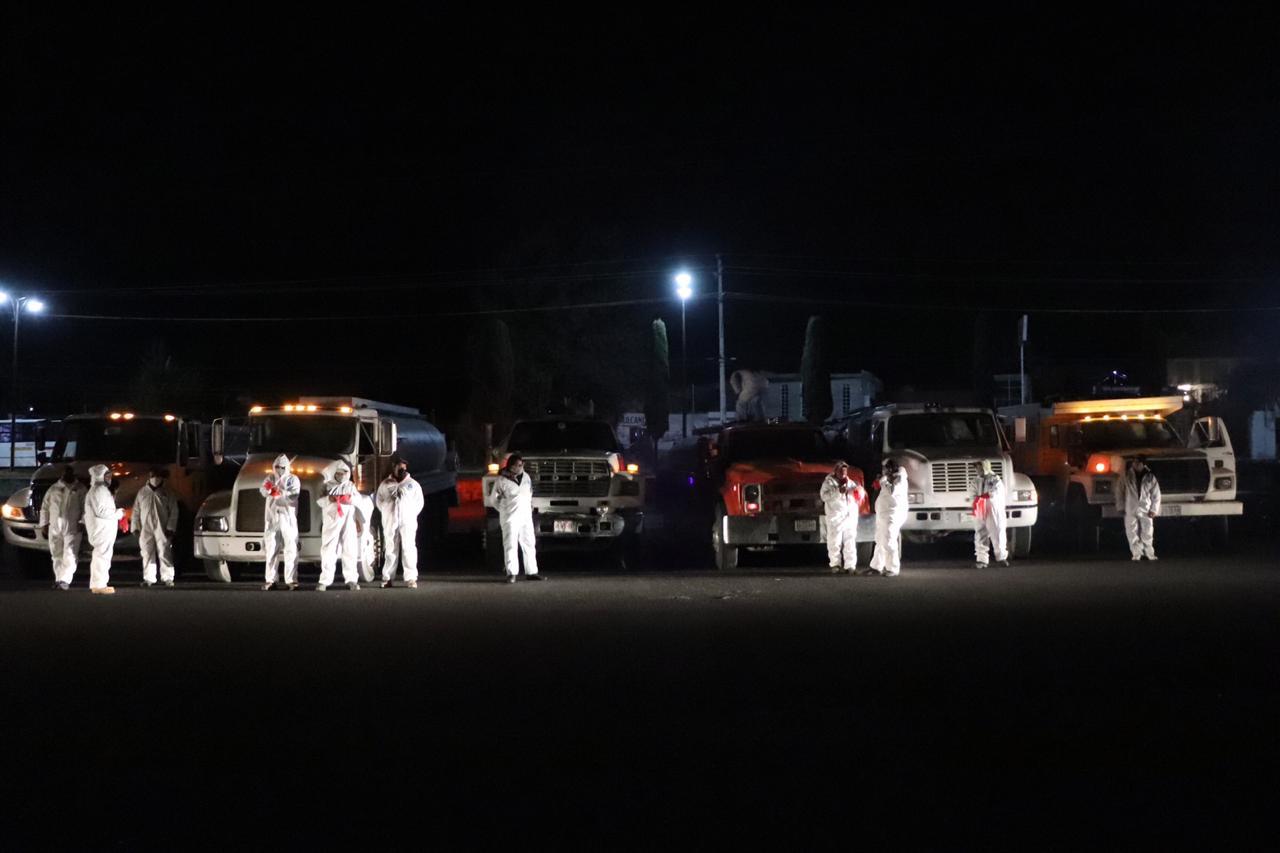 Continúan las jornadas de sanitización en Huamantla