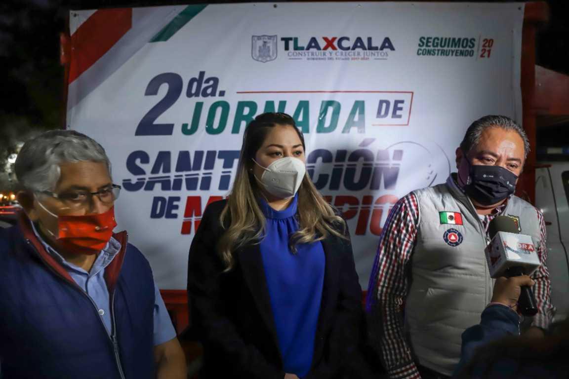 Realizan Ayuntamiento de Tlaxcala y CEPC Segunda Jornada de Sanitización en la capital