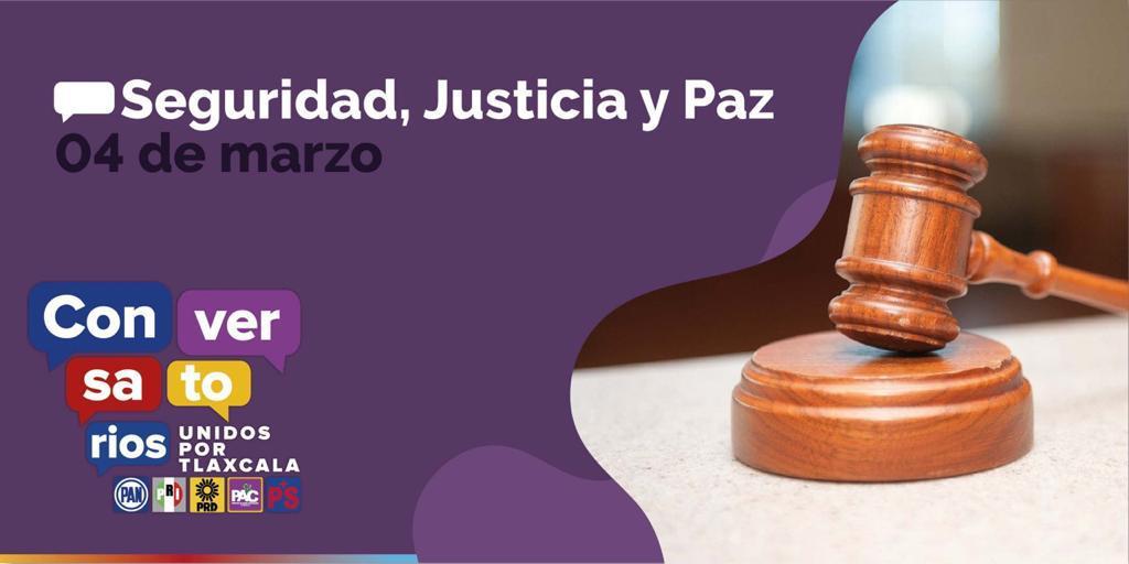 Expondrá PRD Conversatorio SEGURIDAD, JUSTICIA Y PAZ