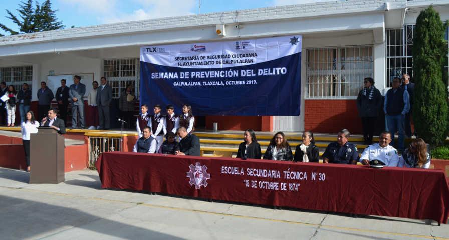 Escuelas de Calpulalpan participaran en la Semana de la Prevención del Delito