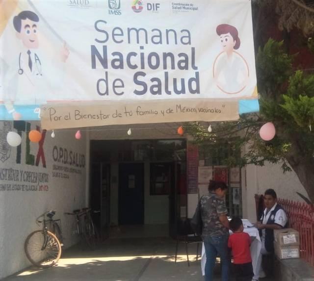 Ayuntamiento se suma a la Semana Nacional de Salud con 4 módulos