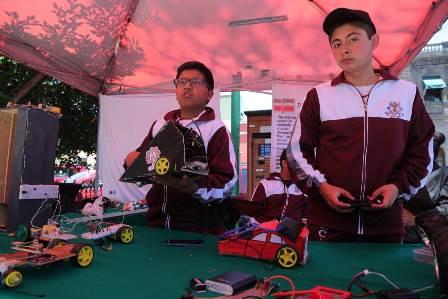 Realizan demostración educativa escuelas secundarias técnicas