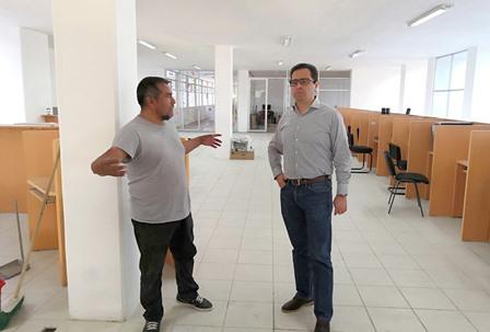 Supervisan avances de la rehabilitación de la Biblioteca Central