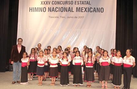 Organiza Sepe concurso de interpretación de Himno Nacional