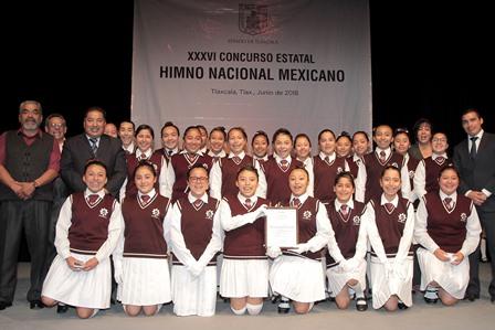 Realizan XXXVI Concurso de Interpretación del Himno Nacional
