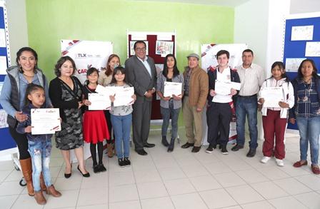 Premian a ganadores de concurso de dibujo infantil y juvenil